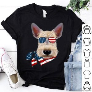 American Flag Scottie Patriotic 4th Of July Shirt