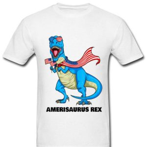 Amerisaurus Rex Patriotic Dinosaur American Flag 4th Of July Shirt