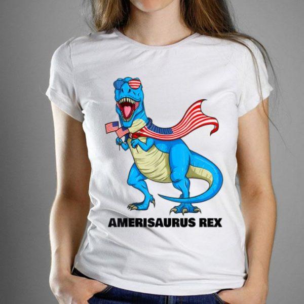 Amerisaurus Rex Patriotic Dinosaur American Flag 4th Of July Shirt