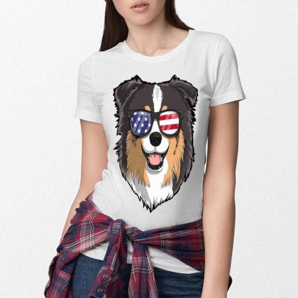 Australian Shepherd Dog Patriotic Usa 4th Of July American Premium Shirt