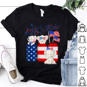 Baby Elephant Happy 4th Of July American Flag shirt