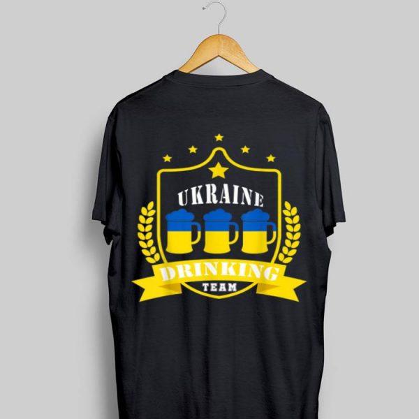 Beer Ukraine Drinking Team Casual Ukraine Flag shirt