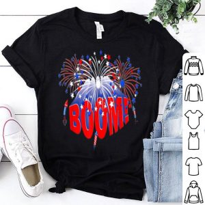 Boom Red White And Blue Patriotic Fireworks shirt