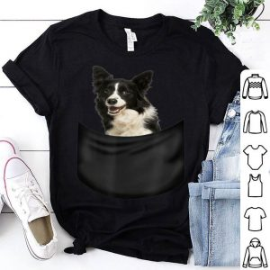 Border Collie Pocket Funny Father's Day Dog Gifts Shirt