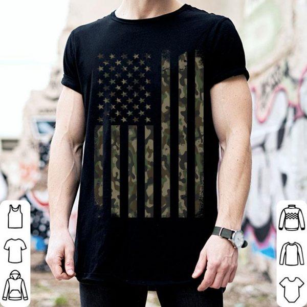 Camouflage American Flag shirt