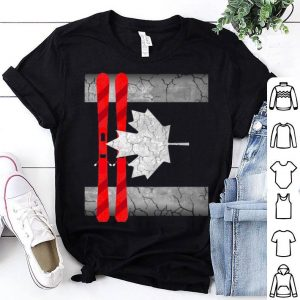 Canada Day - Canada Flag Skiing Shirt