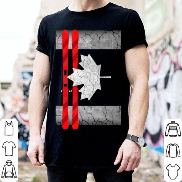 Canada Day - Canada Flag Skiing Shirt