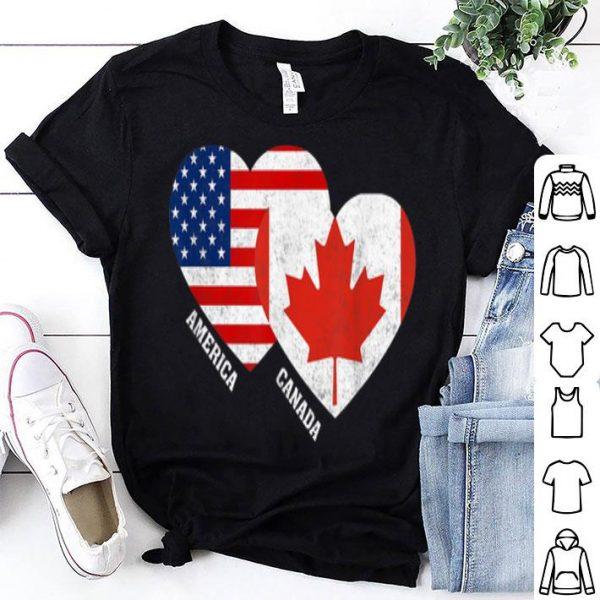 Canada Flag Canadian American Flag shirt