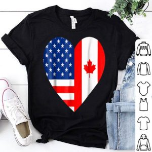 Canadian American Flag Love Canada Day 4th Of July Shirt