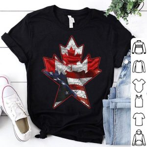 Canadian American Flag Useh Maple Leaf Gift shirt