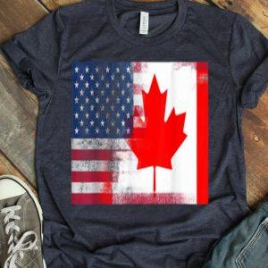 Canadian American Half Canada Half America Flag shirt