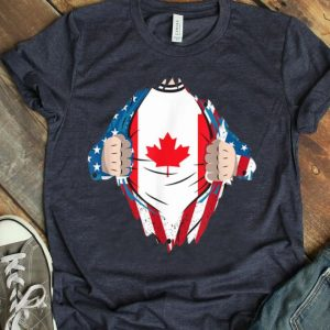 Canadian Blood Inside Me Canada Flag Canada Day American Flag shirt
