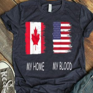 Canadian Blood Inside Me Canada Flag Gift Shirt