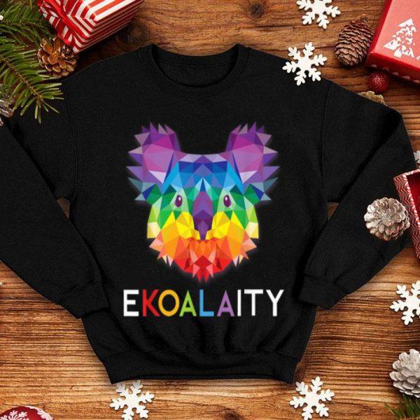Cute Koala Rainbow Flag LGBT World Pride Ekoalaity shirt