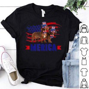 Dachshund Sunglasses Hat American Flag 4th Of July Shirt