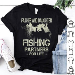Fisherman Dad And Daughter Fishing Partners Father Day Shirt