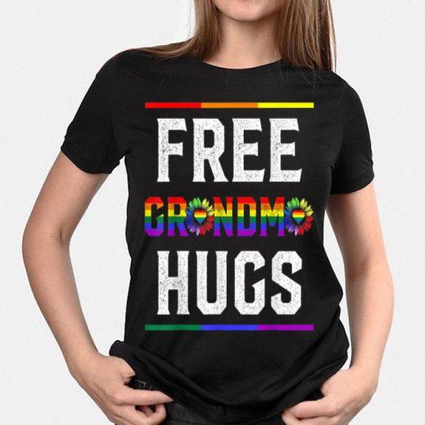 Free Grandma Hugs Pride Lgbt Floral shirt