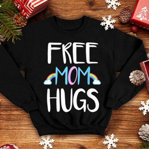 Free Mom Hugs Pride Rainbow Mom Shirt