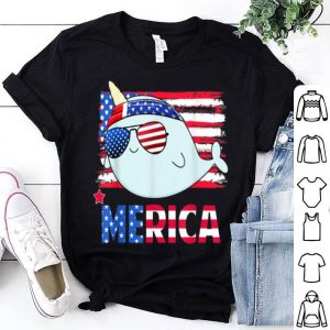 Hanging With Narwhal Mom Merica 4th July Shirt