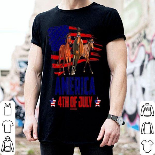 Horse Patriotic American America 4th Of July shirt