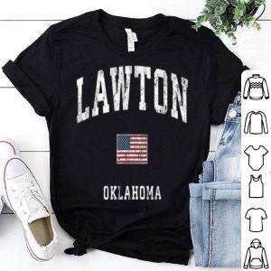 Lawton Oklahoma Ok Vintage American Flagports shirt