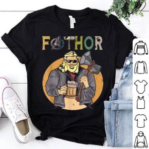 Marvel Fathor Avenger Like A Dad Drinking Beer shirt