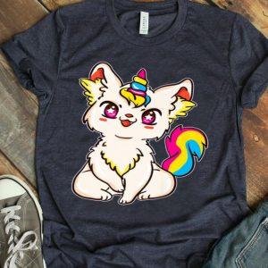 Pansexual Pride Kawaii Anime Caticorn Premium shirt