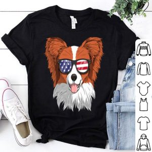 Papillon Dog Patriotic Usa 4th Of July American shirt
