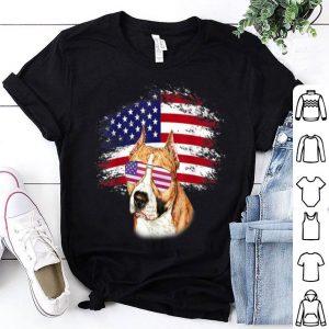 Patriotic American Flag Pitbull shirt