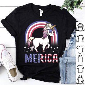 Patriotic USA Flag 4th Of July American Merica Unicorn shirt