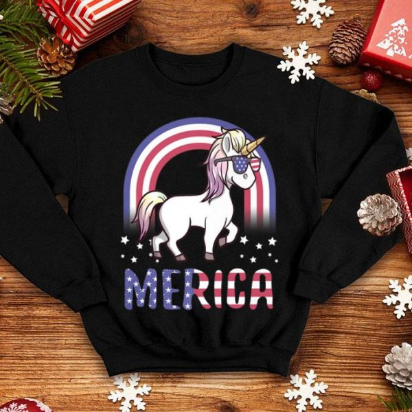 Patriotic USA Flag 4th Of July American Merica Unicorn shirt