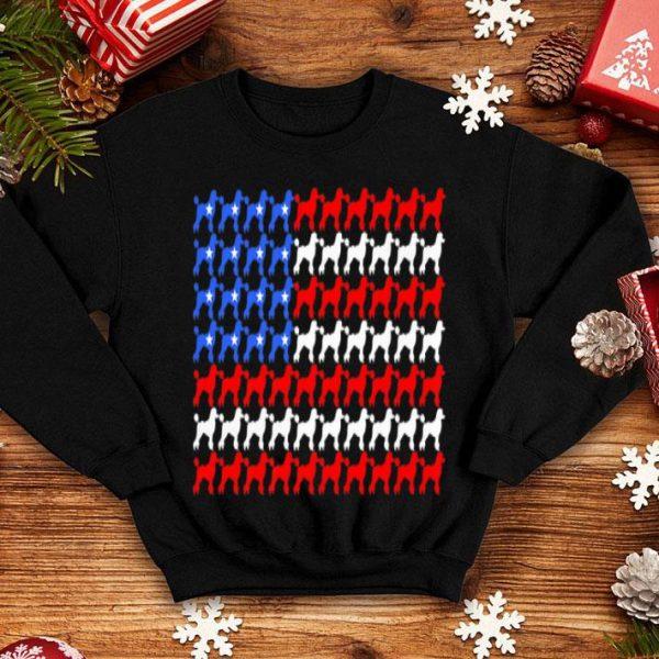 Poodle 4th Of July Usa American Flag Patriotic Women Dog Premium Shirt