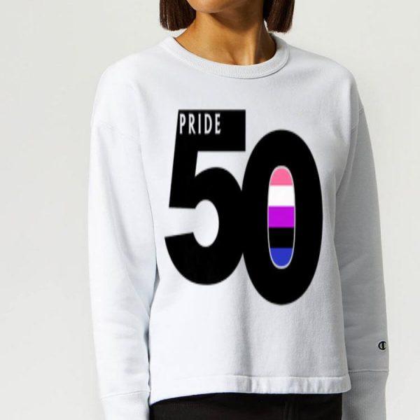 Pride 50 Genderfluid Pride Flag World Pride 2019 shirt