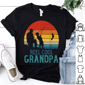 Reel Cool Grandpa Fishing Father's Day Grandpa Gift Shirt