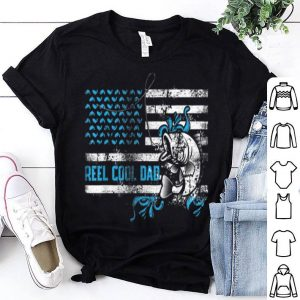 Reel cool dad father's day fisherman American Flag Shirt