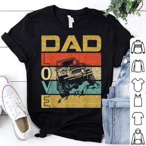 Retro Vintage Dad Love Jeep Fathers Day shirt
