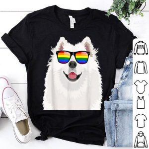 Samoyed Face Rainbow Sunglasses Gay Pride LGBT Gifts Shirt