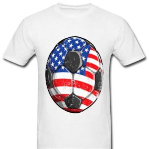 Soccer American Flag 4th Of July Shirt