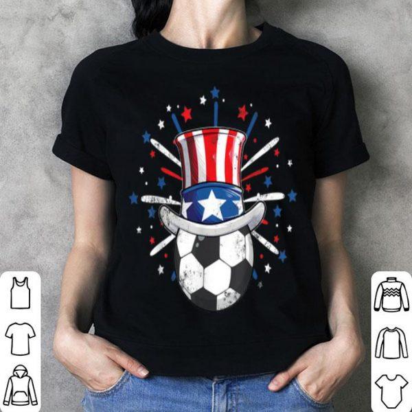 Soccer Football Ball American Flag Patriotic July 4th Sports shirt