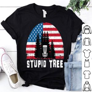 Stupid Tree Golf Usa Flag Independence Day 4th Of July Shirt