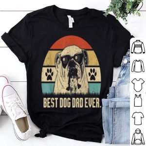 Vintage Best English Bulldog Dad Ever Fathers Day Gift Shirt