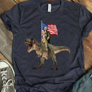 Washington Riding T-rex Dinosaur For 4th Of July shirt