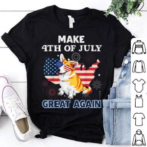 Welsh Corgi Make 4th Of July Great Again Dog Usa Flag shirt