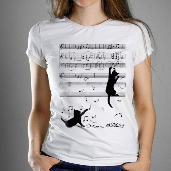 2h Note Music Lover Black Cat shirt