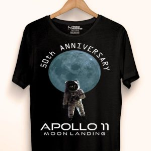 50th Anniversary Apollo 11 Moon Landing Space One First Step shirt