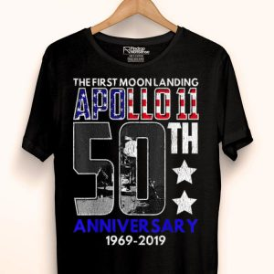 50th Anniversary Moon Landing Apollo 11 Giant Leap 1969 - 2019 shirt