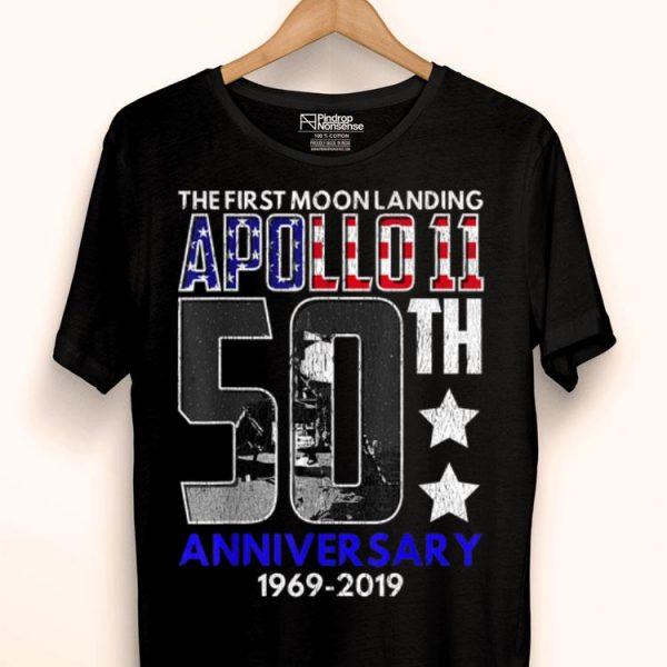 50th Anniversary Moon Landing Apollo 11 Giant Leap 1969 - 2019 shirt