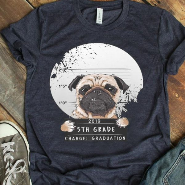 5Th Grade 2019 Bad Puggy Pug Charge Graduation Premium shirt