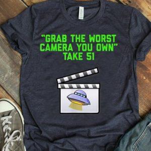 Alien Area 51 Worst Camera Grab Sarcasm Silly Geek shirt