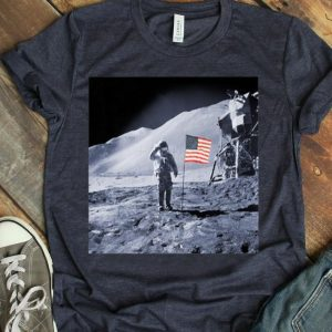 American Flag Moon Landing shirt